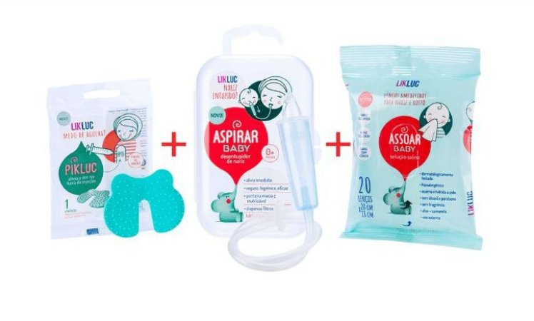 Kit Happy Baby Com Pikluc + Aspirar Baby + 2 Assoar Baby - Likluc