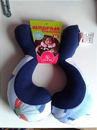 Almofada Anatômica de Pescoço Balão Azul - Colo de Mãe