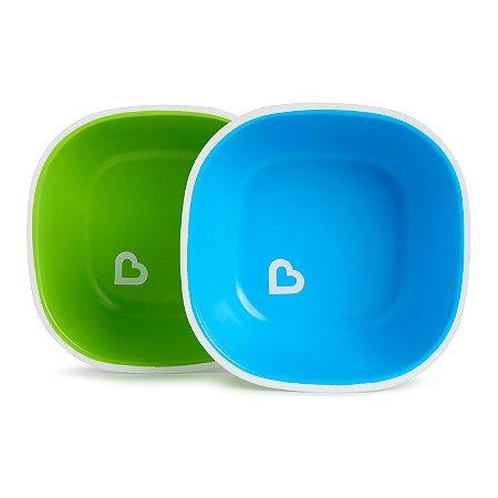 Conjunto Com 2 Tigelas Munchkin Azul e Verde - Munckin