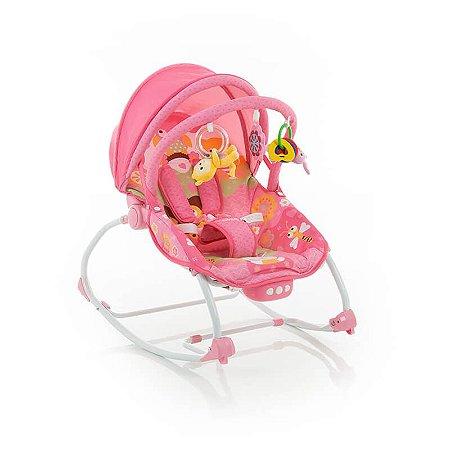 Cadeira de Descanso Bouncer Sunshine Baby Rosa - Safety