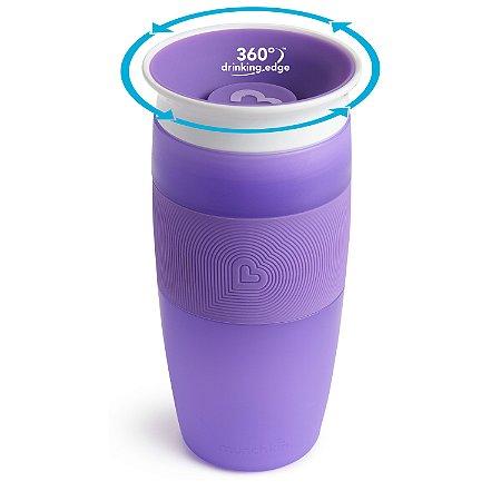 Copo de Treinamento 360 Miracle Cup 414 ml Roxo - Munchkin