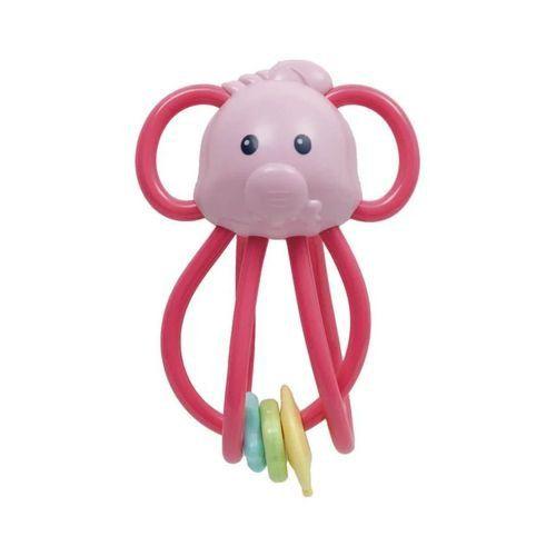 Elefantinho Chocalho Divertido Rosa - Buba