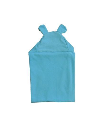 Cobertor Infantil Com Capuz Azul - Colo de Mãe