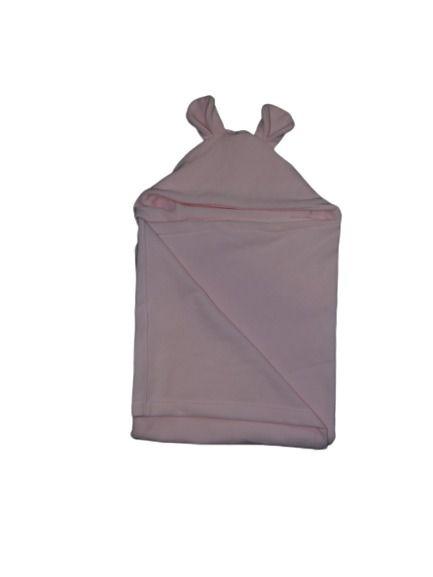 Cobertor Infantil Com Capuz Rosa - Colo de Mãe