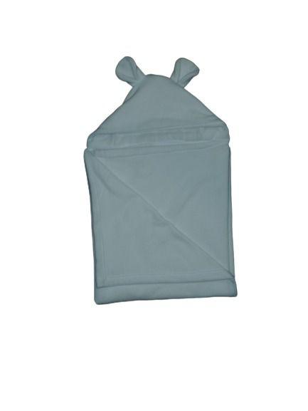 Cobertor Infantil Com Capuz Branco - Colo de Mãe