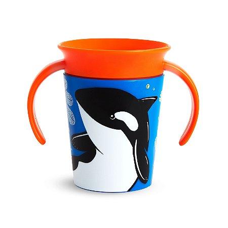 Copo de Treinamento 360 Miracle Cup Wild Baleia - Munchkin