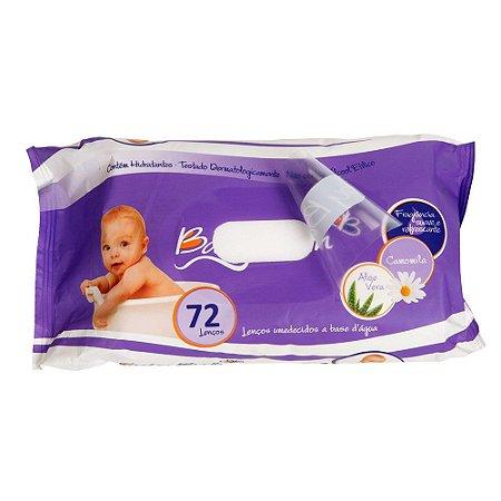 Lenços Umedecidos Higienizadores 72 unidades - Baby Bath