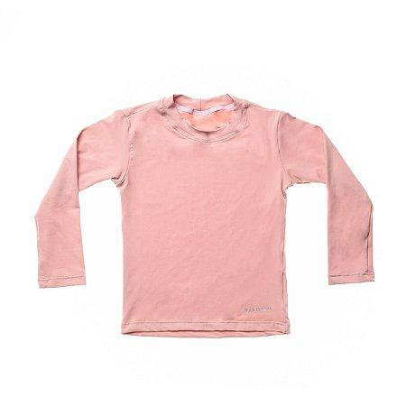 Blusa Com Proteção Solar Manga Longa FPS 50 Rosê - Bup Baby