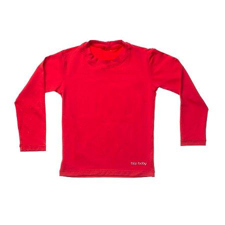 Blusa Com Proteção Solar Manga Longa FPS 50 Vermelha - Bup Baby