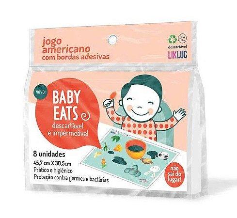 Jogo Americano Adesivo Descartável Baby Eats Com 8 Unidades - Likluc