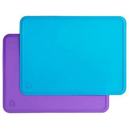Kit Jogo Americano Silicone  Azul e Roxo - Munchkin