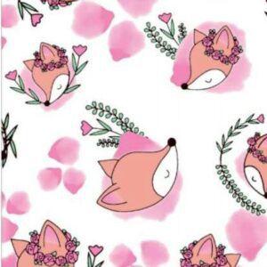 Toalha Infantil Gigante Raposa Rosa - Colo de Mãe