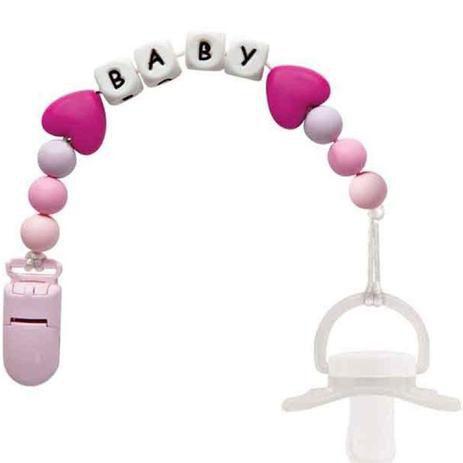 Prendedor de Chupetas Baby Rosa - Buba