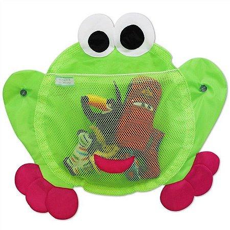 Organizador Para Brinquedos de Banho Sapinho Rosa - O sapo e a princesa