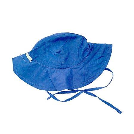 Chapéu de Banho Infantil Com FPS 50+ Azul Marinho - Ecoeplay