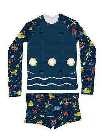Conjunto Com Proteção UV Fundo do Mar - Panda Pool