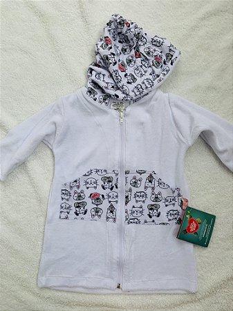 Roupão Infantil Com Capuz e Manga Longa Plop Dog - Colo de Mãe