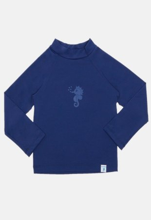 Camiseta de Banho Com FPS 50+ Manga Longa Azul Royal - Ecoeplay