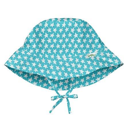 Chapéu de Banho Infantil Com Regulagem Estrelas do Mar Aqua - Iplay