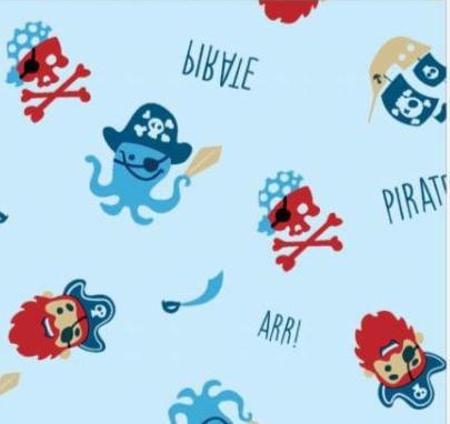 Toalha Infantil MEGA Gigante Piratas - Colo de Mãe