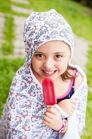 Toalha Infantil MEGA Gigante Unicórnio Colors - Colo de Mãe