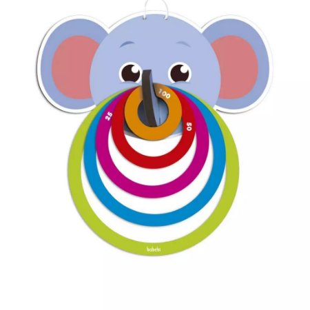 Brinquedo Lança Argolas Elefantinho - Babebi