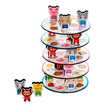 Brinquedo Educativo Empilhe os Bichinhos - Babebi