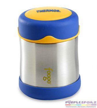 Pote Térmico FOOGO 290 ml Azul e Amarelo - Thermos Foogo