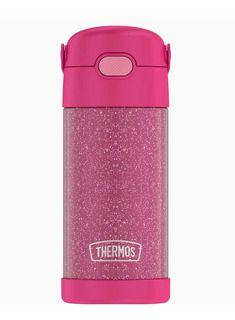 Garrafinha Térmica FOOGO 355 mL Rosa Glitter - Thermos Foogo