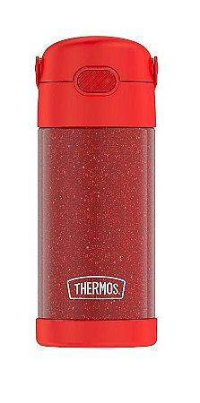 Garrafinha Térmica FOOGO 355 mL Vermelha Glitter - Thermos Foogo