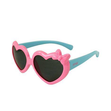 Óculos Escuros Coração Rosa e Azul - Clingo