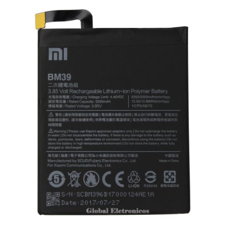 Bateria Xiaomi Bm39 Bm-39 Mi6 Mi 6 M6 Xiaomi 6.