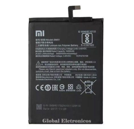 Bateria Xiaomi Mi Max 3 Bm51 Bm-51 Bm 51 Pronta Entrega!!!