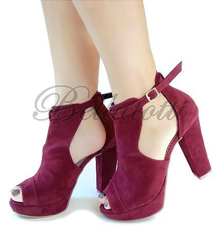 Bota Ankle Boot Bellatotti Altea Bordeaux