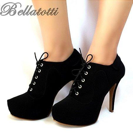 Ankle Boot Bellatotti Laccio Nero
