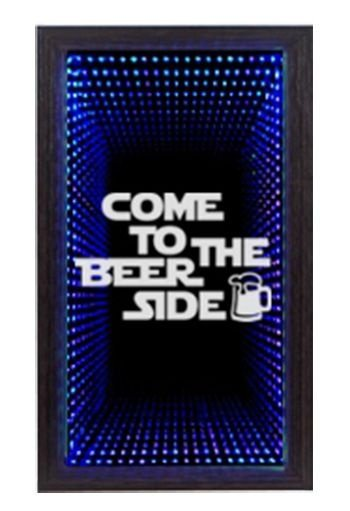Quadro Porta Tampinha Pequeno Infinito LED Beer Side  (1018)