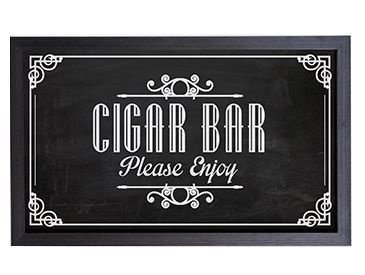 Quadro Porta Rolha Tampinha Cigar Bar - Please Enjoy  (863)