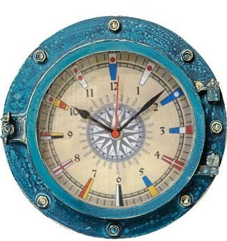 Relógio de Parede Decorativo Escotilha Azul (720)