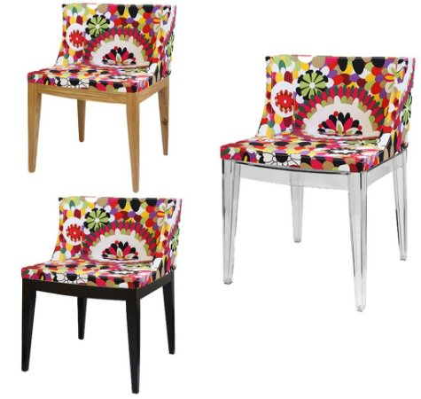 Cadeira Cristie Floral Rosa