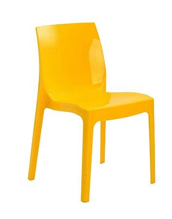 Cadeira Ice Em Polipropileno  - Amarela