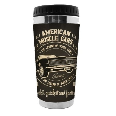 Copo Térmico GM American Muscle Cars Preto 500ml (28268)