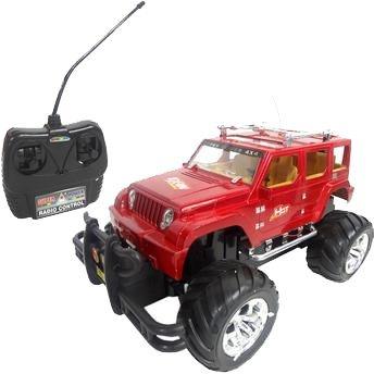 Carro Controle Remoto 7 Funções Super Jipe 4x4 Vermelho