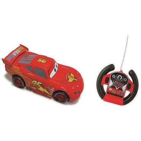 Carro Controle Remoto Relâmpago Mcqueen Carros Disney Toyng 18cm