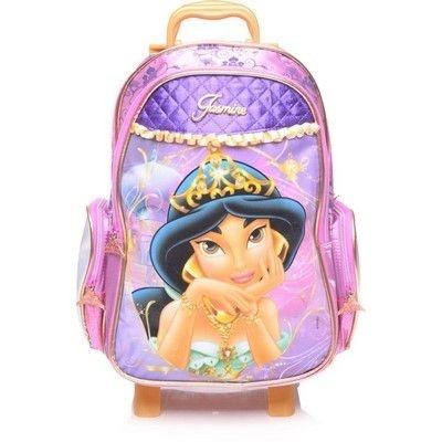 Mochila de Rodinhas Mochilete Escolar Disney Princesa Jasmine DMW (48743)