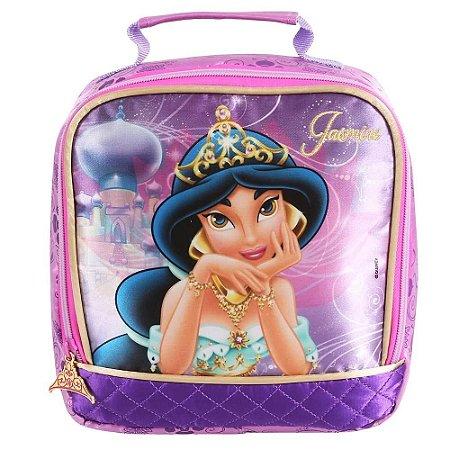 Lancheira Térmica Disney Princesa Jasmine Rosa/roxa Dmw 48741