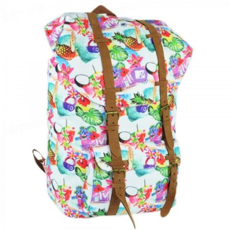 Mochila De Costas Mtv Colorida Tropical 48764