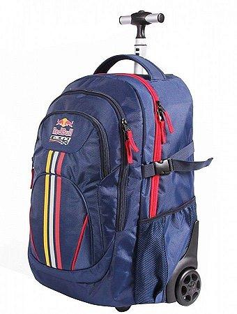 Mochila De Rodinhas Red Bull Racing Azul Escolar 48801