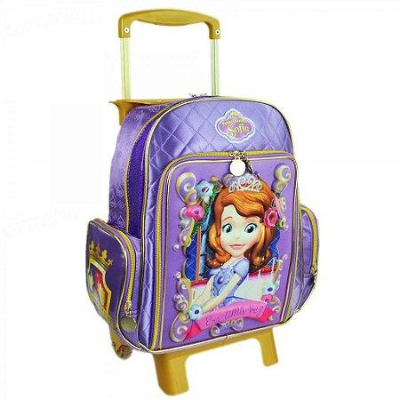 Mochila de Rodinhas Mochilete Escolar Disney Princesinha Sofia (48822)