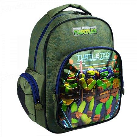 Mochila Tartarugas Ninjas Escolar Infantil Verde 48846