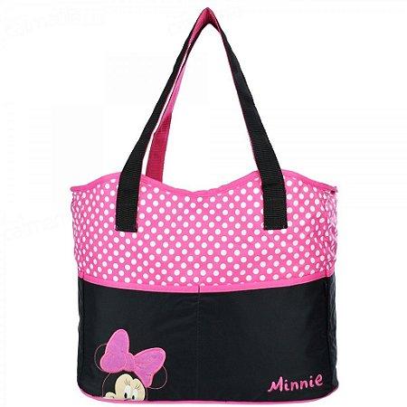 Bolsa Para Bebê Baby Bag Minnie Grande Rosae Preta 01932